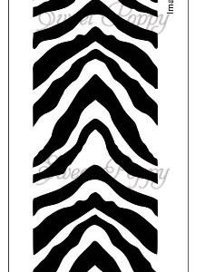 Sweet Poppy Stencil: Stripe Border