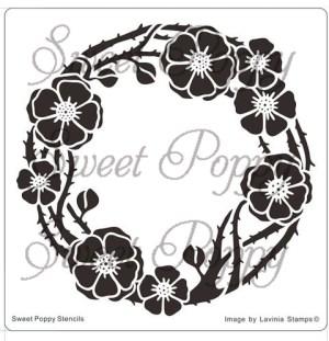 Sweet Poppy Stencil: Poppy Circle