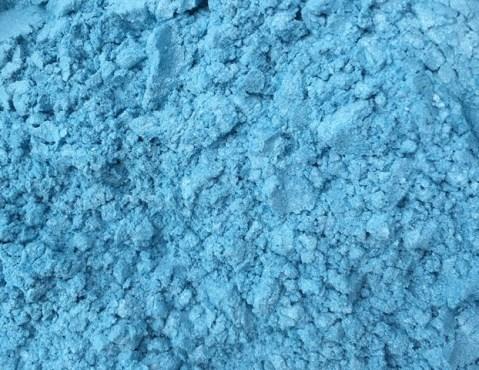 Sweet Poppy Stencil: Mica Powder Sky Blue