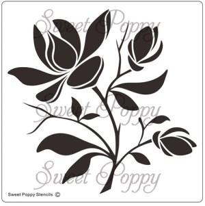 Sweet Poppy Stencil: Magnolia