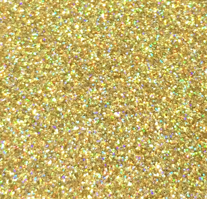 Sweet Poppy Stencil: Satin Glitters Gold Holographic