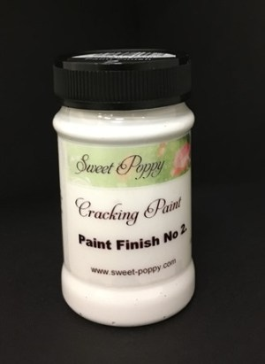 Sweet Poppy Cracking Paint: Paint Finish No2 - 100ml