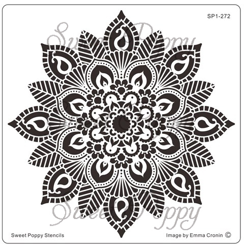 Sweet Poppy Stencil: Mehndi Flower