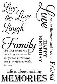 Sweet Poppy Stencil: A6 Stamp Family