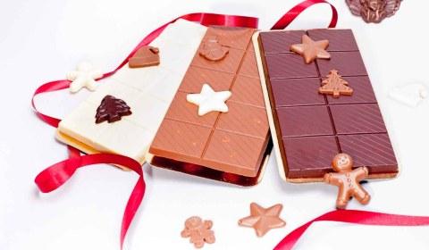 Schokoladentafeln-Weihnachten