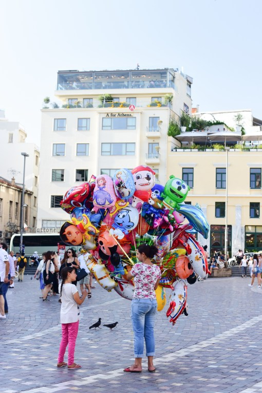 Athens city Balloon seller