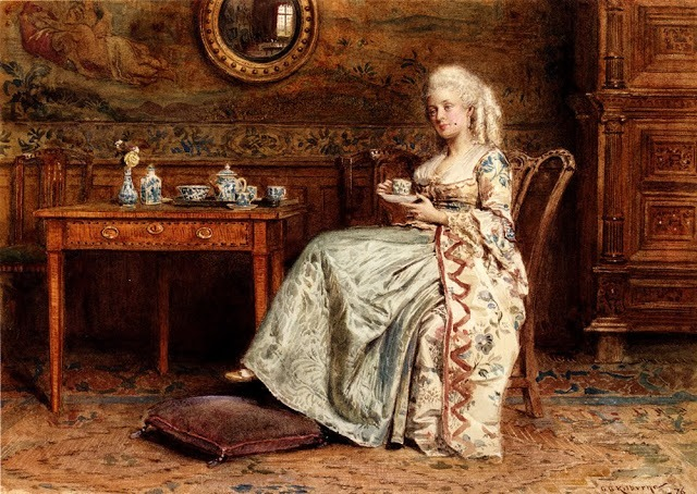 """Afternoon Tea"". Автор - George Goodwin Kilburne"