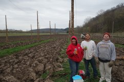 2015: Hop yard expansion crew