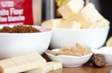ingredients-for-ginger-white-chocolate-cookies