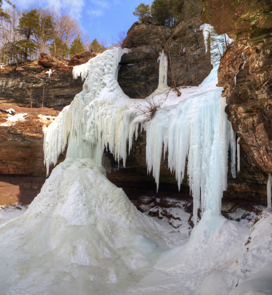 Frozen Kaaterskill Falls - Sweet and Savoring [photo by Andy Milford]