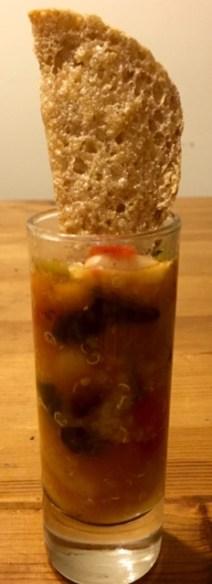 Spinach, kidney bean, tomato & quinoa soup