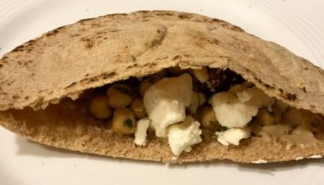 Falafel stuffed pita