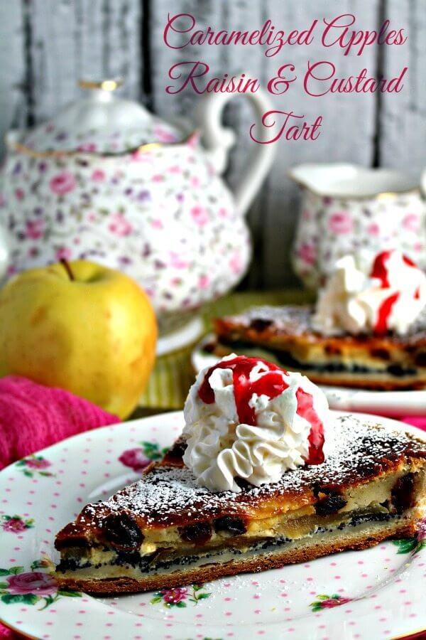 Caramelized apple custard tart