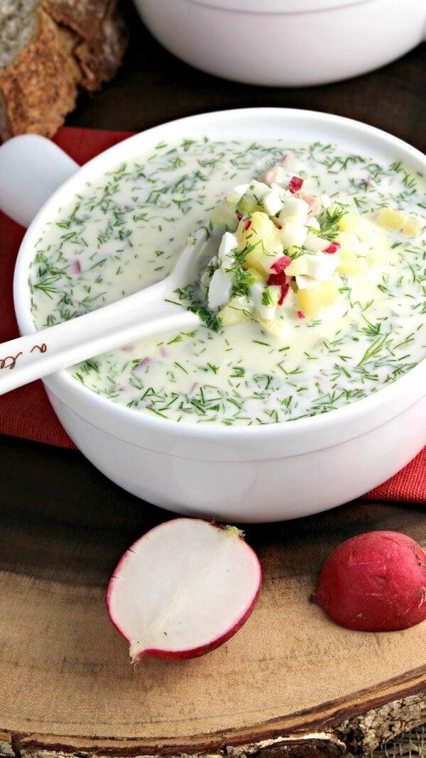 Cold Summer Soup Russian Okroshka