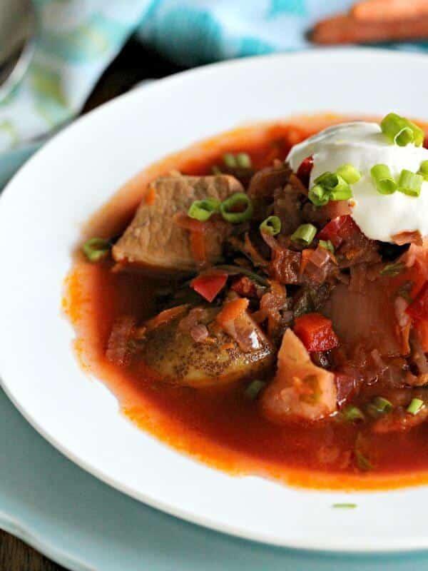 Roasted Red Beet Bean Soup Ukrainian Borscht
