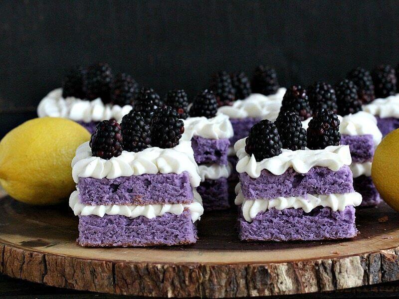 Purple Cake with Lemon Buttercream