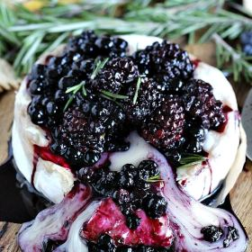 Rosemary Berry Baked Brie