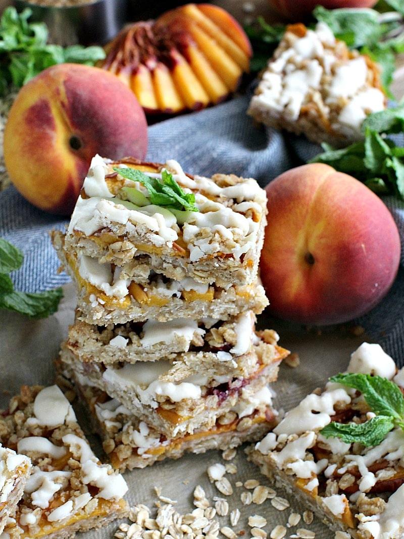 Gluten Free Peach Cobbler Bars