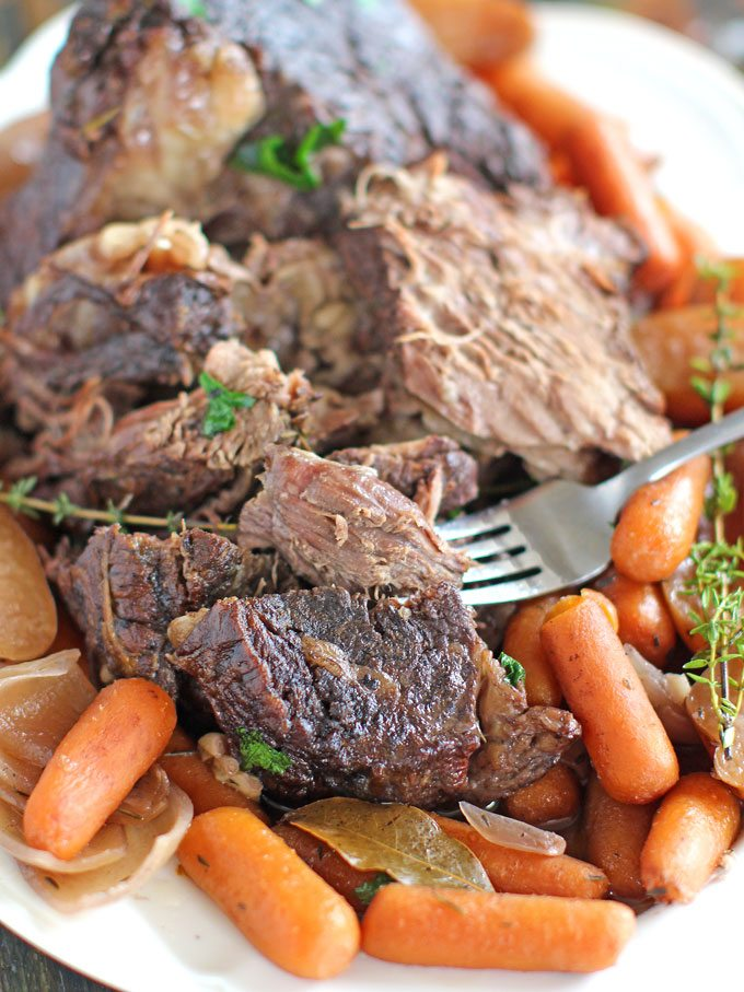 Slow Cooker Pot Roast With Red Wine Sweet And Savory Meals