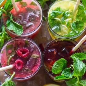 Fruit Mojitos Four Ways