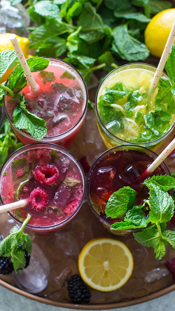Fruit Mojitos are so easy to make, they are also pretty and refreshing, the perfect summer drink.