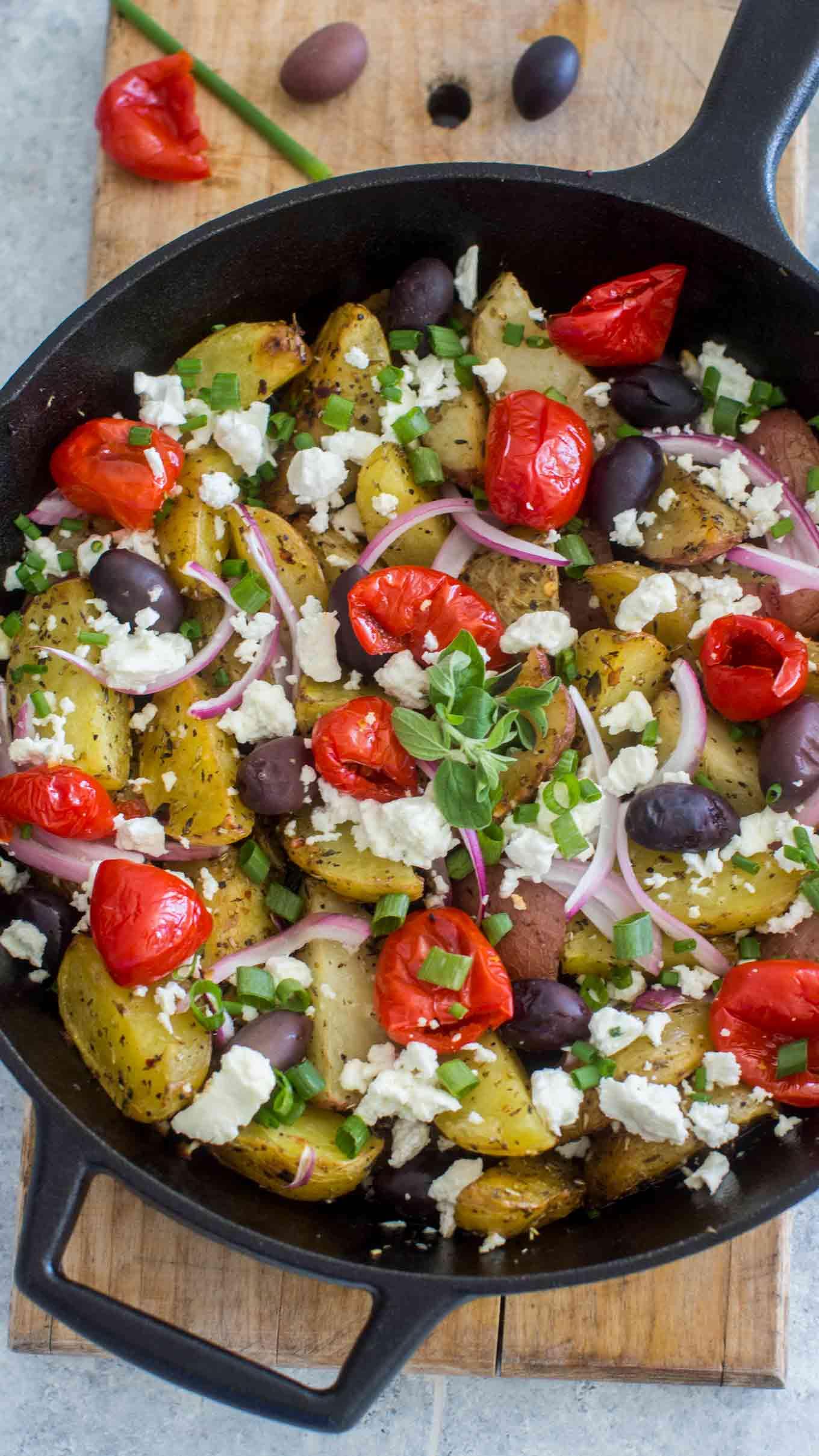 Oven Baked Greek Potatoes