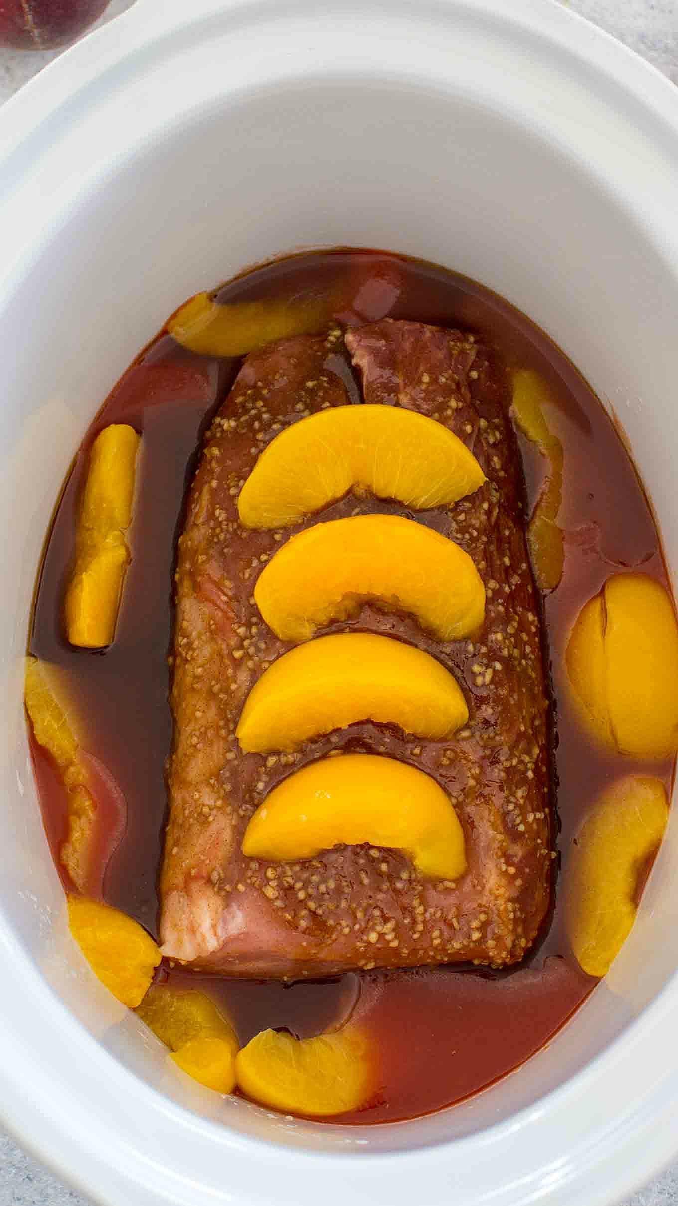 Slow Cooker Peach Pork