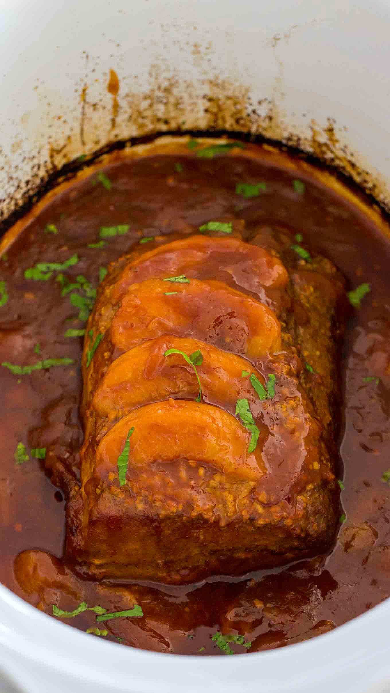 Slow Cooker Peach Pork Recipe