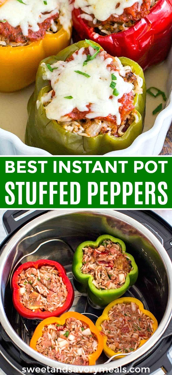 Easy Instant Pot Stuffed Pepper with Beef and Rice