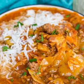 Easy Instant Pot Cabbage Roll Soup