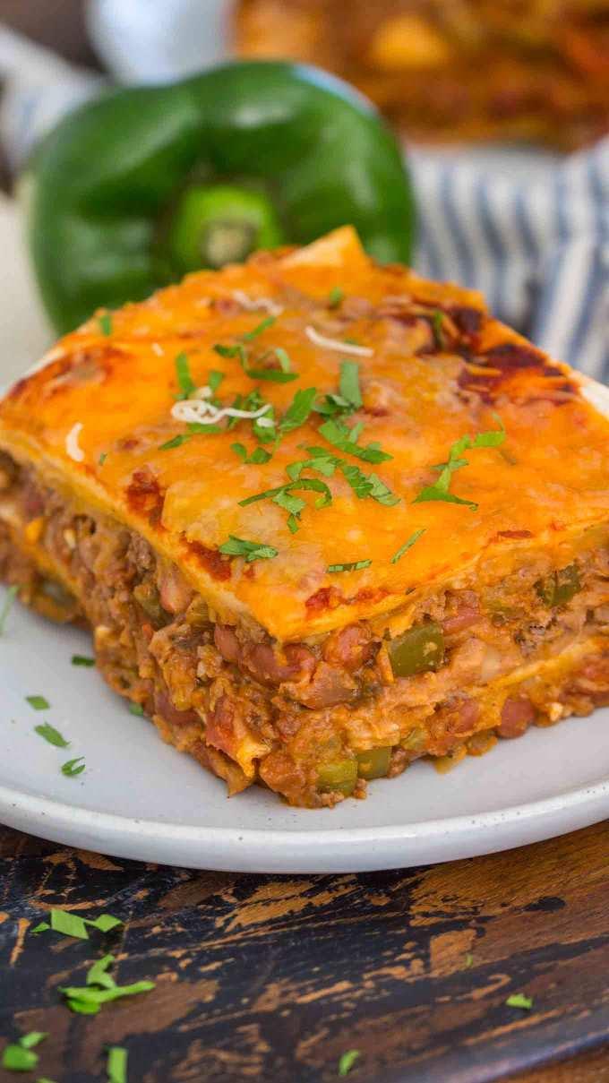 Best Taco LasagnaSlice