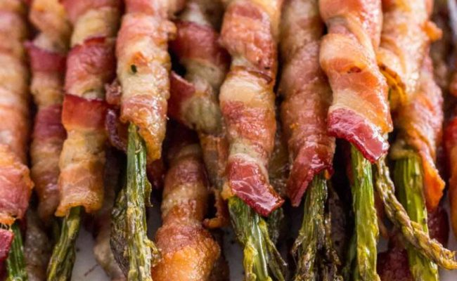Crispy Bacon Wrapped Asparagus Video Sweet And Savory