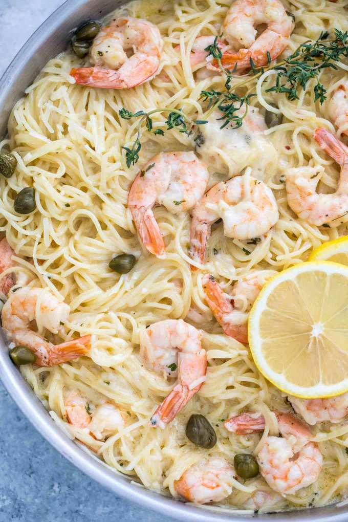 CreamyGarlic Parmesan Shrimp Pasta