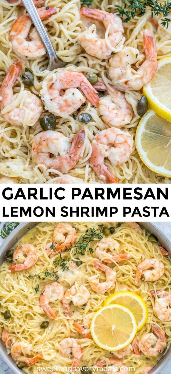 Garlic Parmesan Shrimp Pasta in a Creamy Sauce