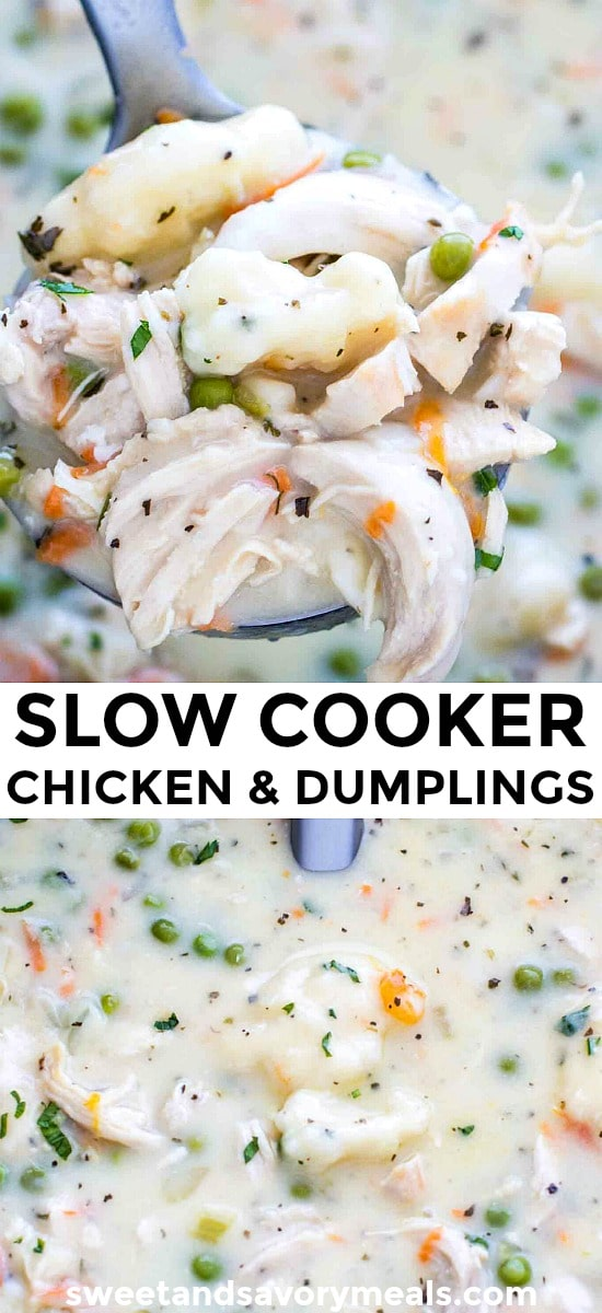 Crockpot Chicken and Dumplings with Carrots