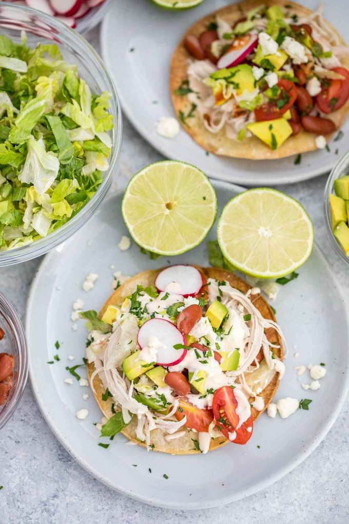 Mexican Chicken Tostadas Recipe