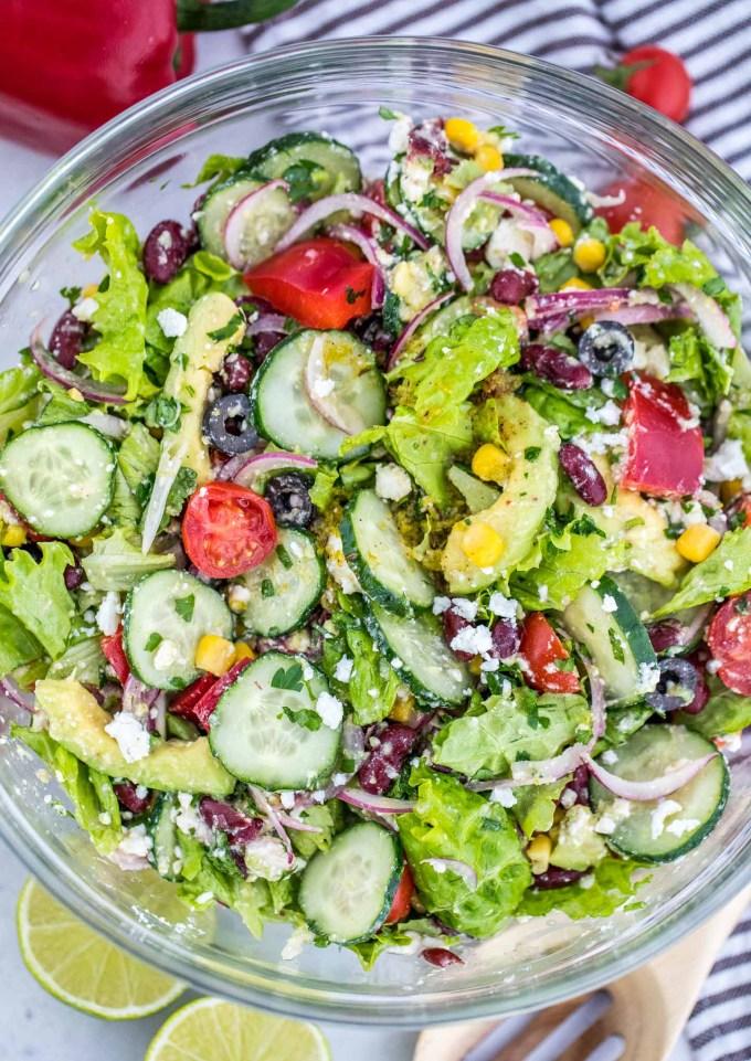 Vegetarian Mexican Salad Recipe