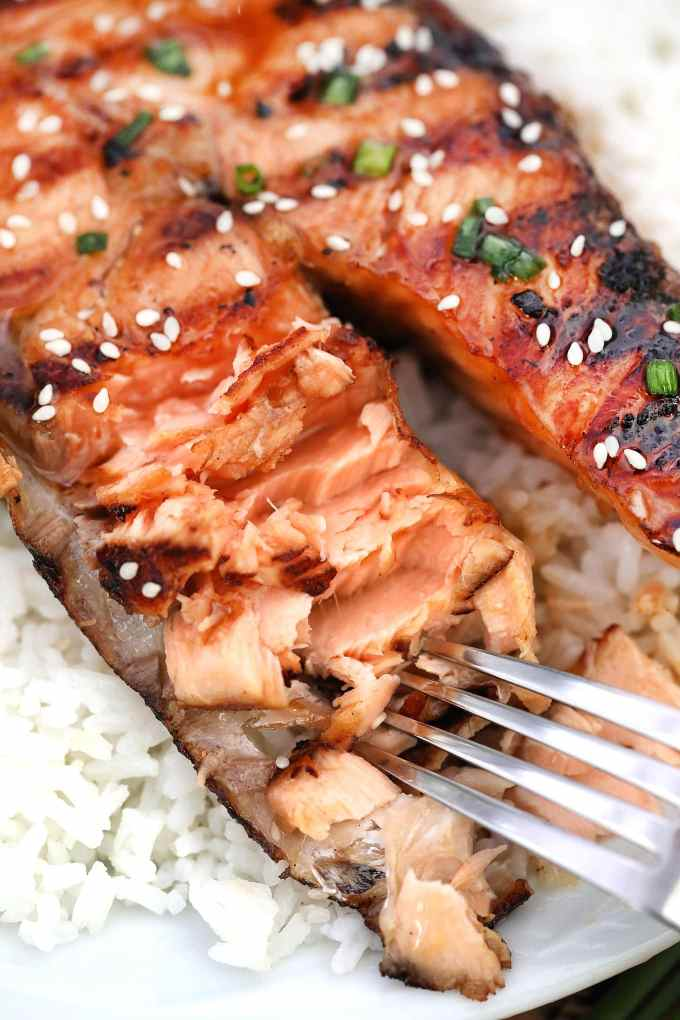 Maple Soy Grilled Salmon