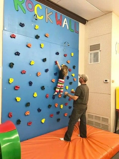 rock wall play place