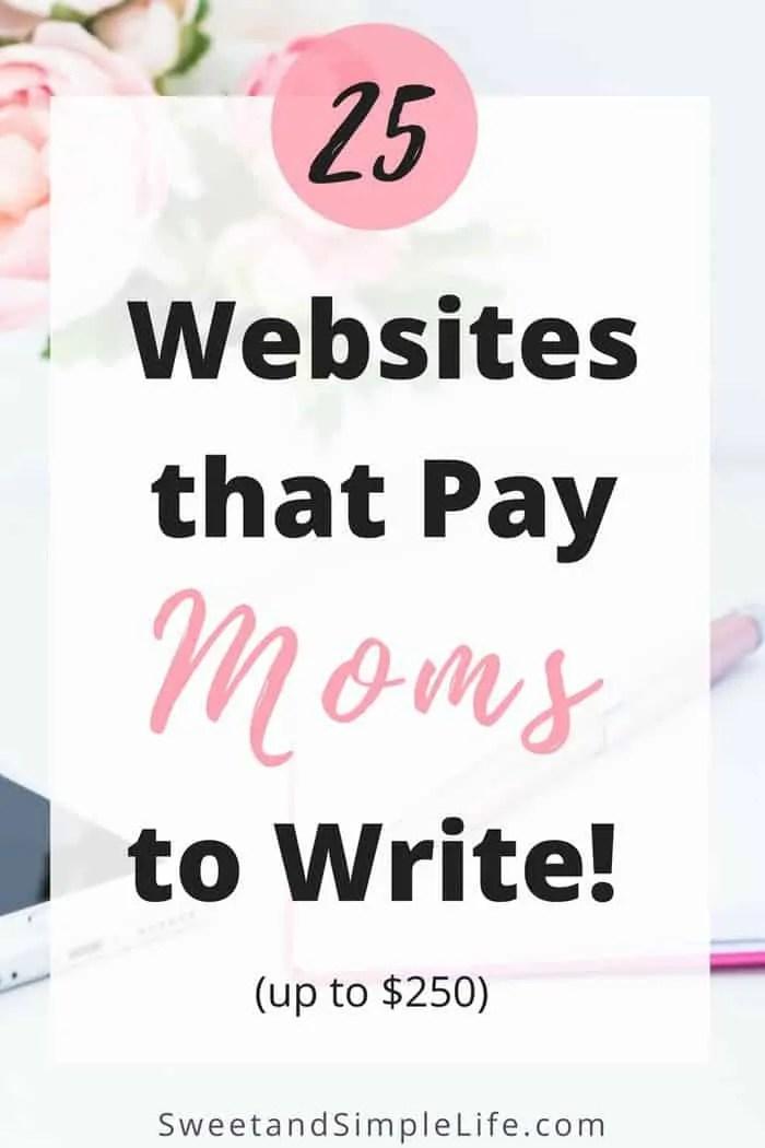 pay moms to write