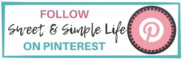Follow Sweet and Simple Life on Pinterest