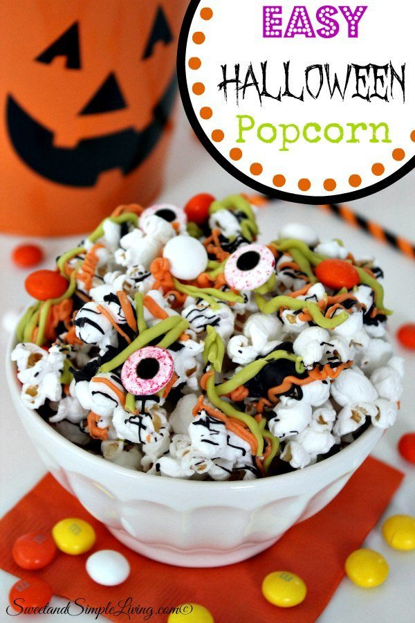 Easy Halloween Popcorn  Sweet and Simple Living