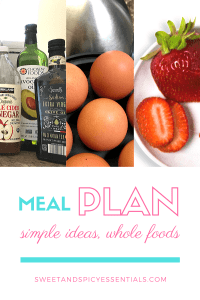 Meal Planning sweetandspicyessentials.com