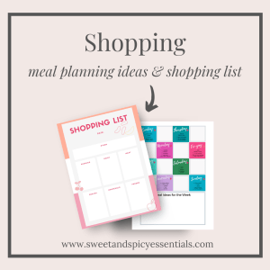 Shopping List and Meal Planner PDF