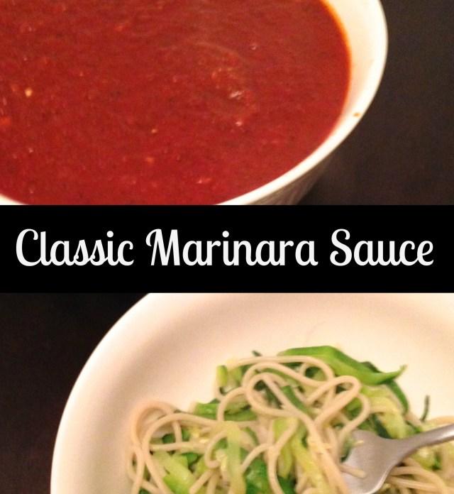 Classic Marinara Sauce