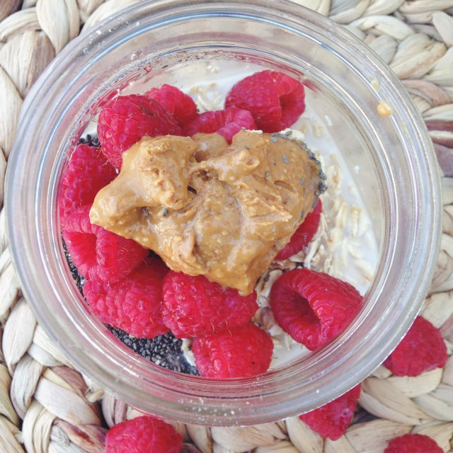Peanut Butter & Jelly Overnight Oats