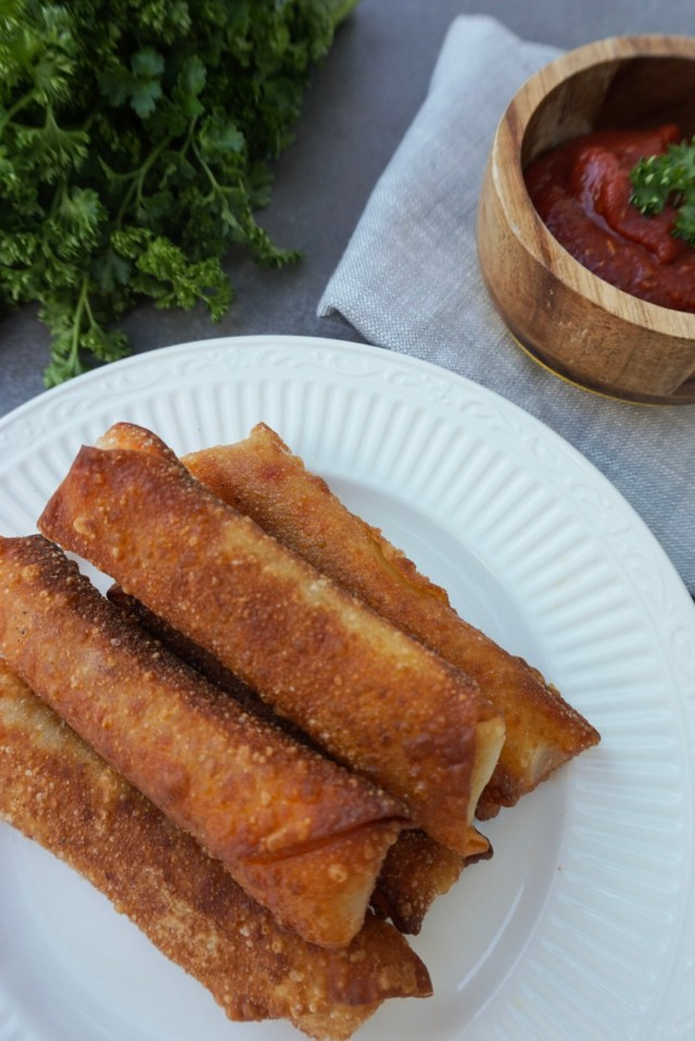 Traditional Cheese and Pepperoni Pizza Logs