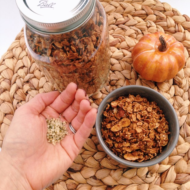 Healthy Pumpkin Spice Granola with Hemp Seeds from Manitoba Harvest