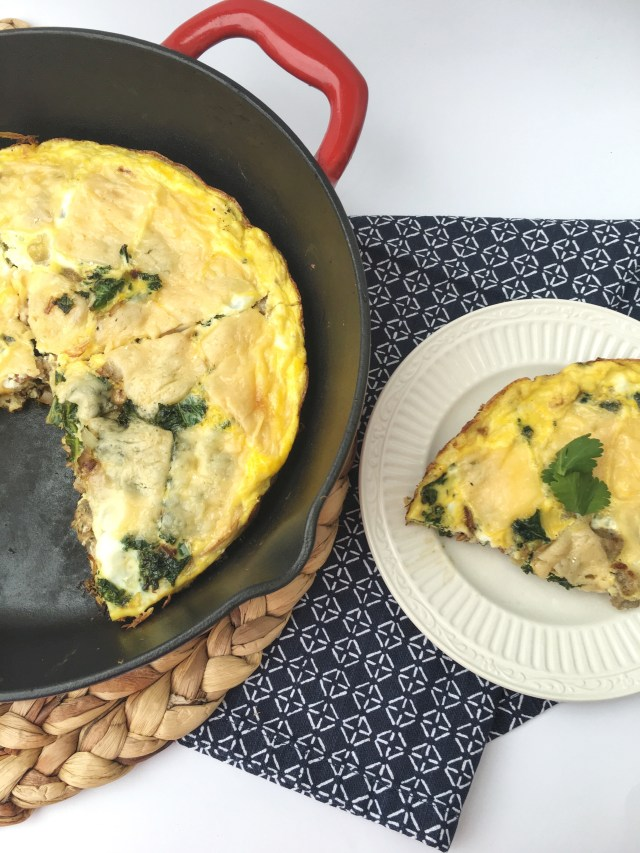 Chicken Sausage, Kale, and Mushroom Frittata