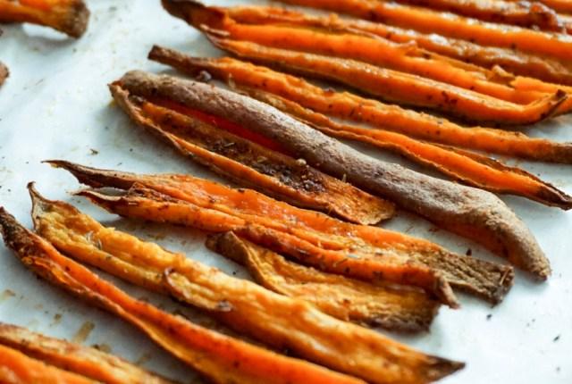 Crispy Seasoned Baked Sweet Potato Fries